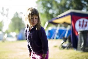 Barn på ett Unga Örnar läger