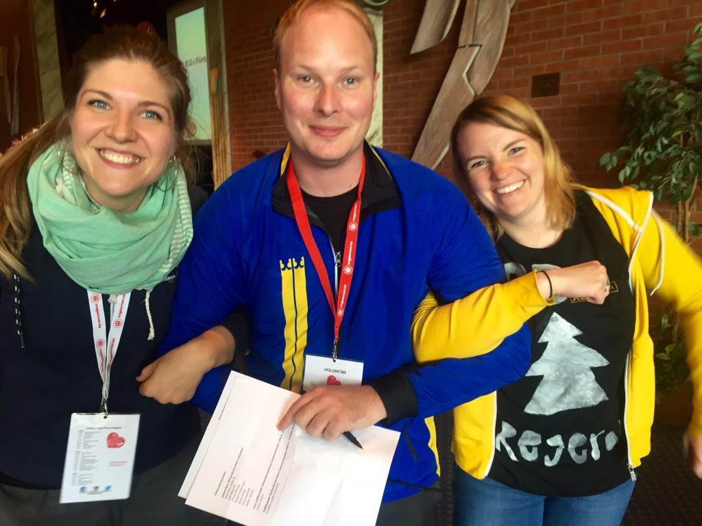 Rebecka, Anders och Emilia är det nya arbetsutskottet