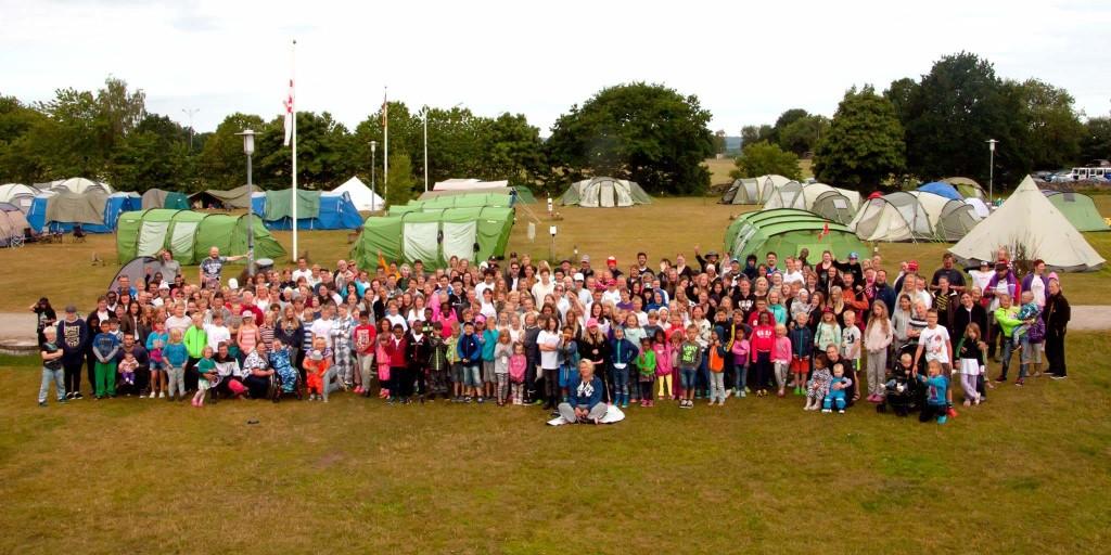 Gruppbild från lägrets sista dag, bilden är tagen av Robin Andersson.