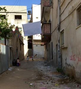 Barn som leker i Qalqiliya.